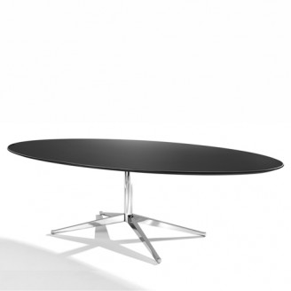 FLORENCE KNOLL TABLE DESK OVAL